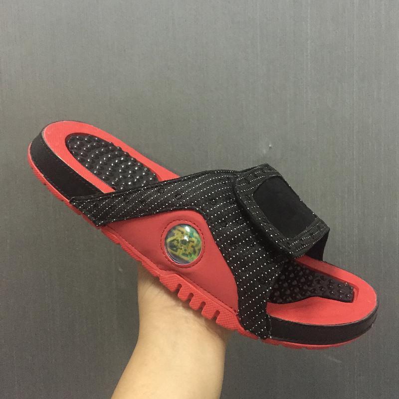 13s atacado chinelos Branco do preto azul do desenhador sandálias vermelhas equipa Hidro Slides tênis de basquete luxo casual Praia Chinelo executando o tênis