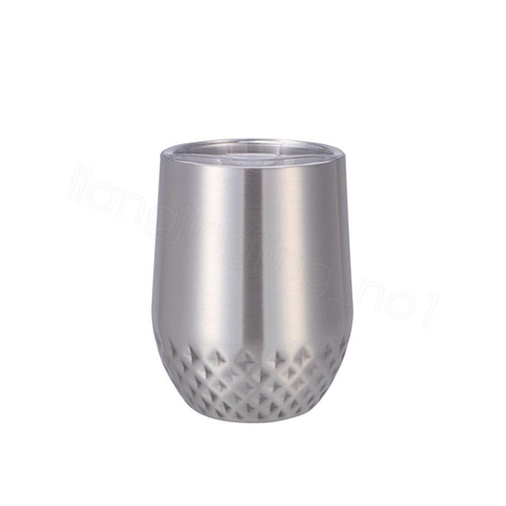 12 once isolanti guscio d'uovo Coppe Pure Color in acciaio inox tazze di caffè escursione di campeggio Bicchieri Bicchieri con coppe FFA3690 coperchio rombo all'aperto