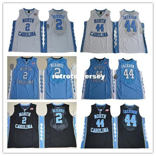 # 44 Justin Jackson # 2 Joel Berry II North Carolina Tar Heels camiseta de baloncesto de la universidad S-XXL chaleco Jerseys Ncaa