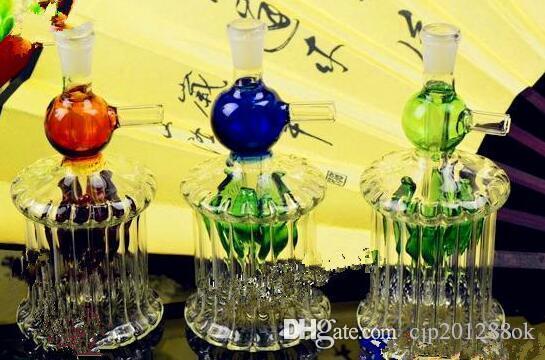Бутылка воды в форме шарика Оптовые стеклянные бонги Нефтяная горелка