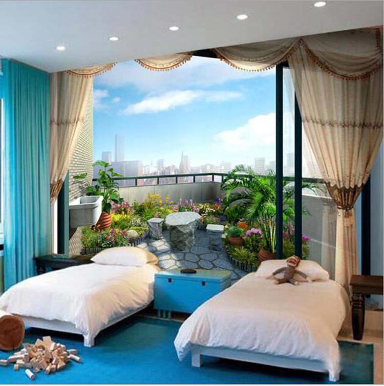 Großes Wandbild Dreidimensionale Tapeten Schlafzimmer Wohnzimmer Sofa Hintergrund Wand 3D Wallpaper nahtlose Hintergrund Wand Anpassung