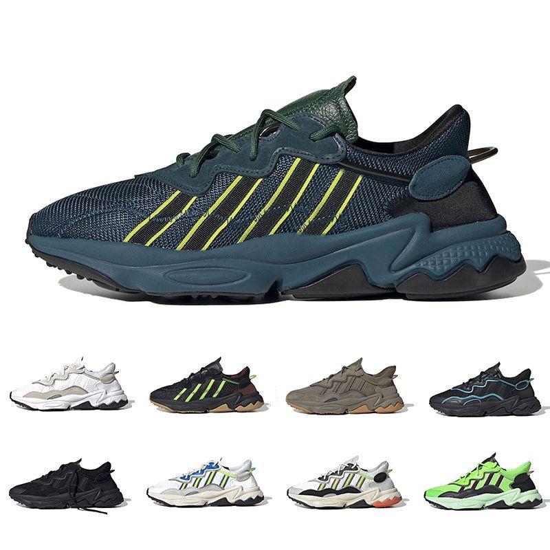 Adidas Ozweego adiPRENE Kadınlar Için 2019 Kalın Turuncu Gurur Xeno Ozweego Koşu Ayakkabıları Neon Yeşil Güneş Sarı Cadılar Bayramı Sesleri Çekirdek Siyah Eğitmen Spor Sneakers
