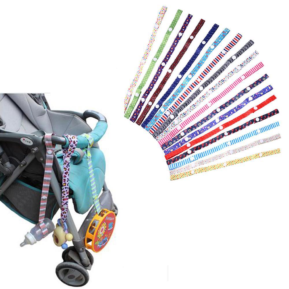 1pc Baby Stroller Acessórios Brinquedos mordedor Chupeta Bottle Anti-lost Cadeia Correia suporte de cinto clipe chupeta colorida Para Stroller