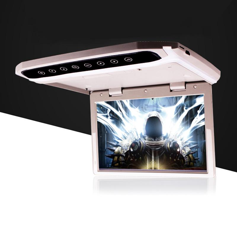 15.6 Inch HD 1080P Video Car Monitor Ceiling Roof Mount LCD Display Screen Flip Down USB/SD/HDMI Multimedia MP4MP5 Video Player