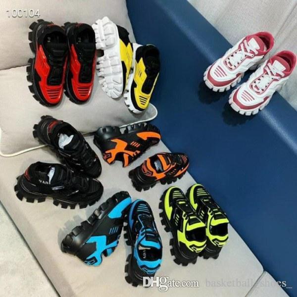 2019 Prada Neueste Catwalk All Star Color Matching dickbesohlten alten Paar Schuhe Luxus Herren Damen Designer Sport Turnschuhe taille 36-45