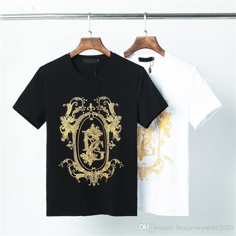 20SS Erkek tişört Moda Lüks Erkek giyim Yuvarlak Yaka Kısa Kollu Tişört Marka Üst Kafatasları SICAK qp-12 tshirt Tişört Slim yazdır