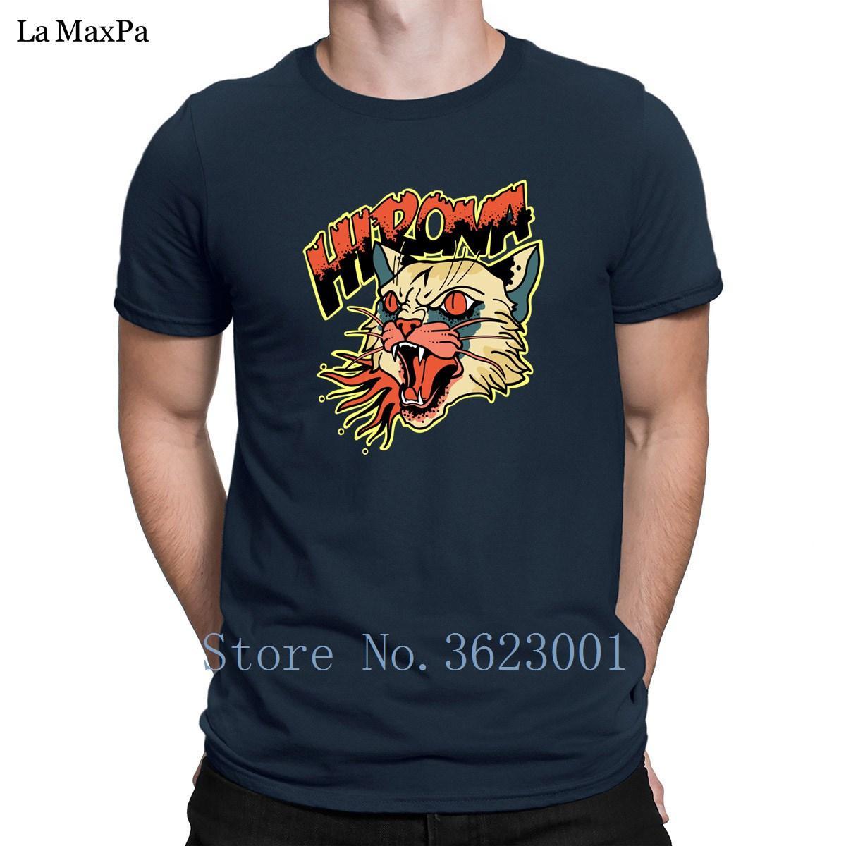 Özelleştirilmiş Yuvarlak Yaka Tee Gömlek Man Kedi Barf T Shirt Man Hiphop En Popüler Erkek Web Tişörtler Unisex Trend