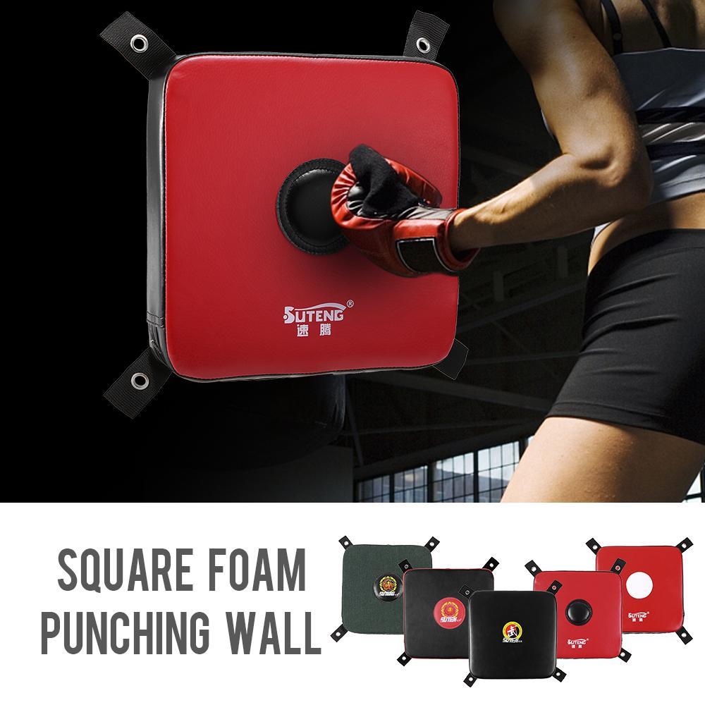 Punzonado barato arena bolso de perforación pared Fighting cojín cuadrado de espuma bolsa de boxeo pared sólida boxeo Lograr karate de formación a bordo de fitness