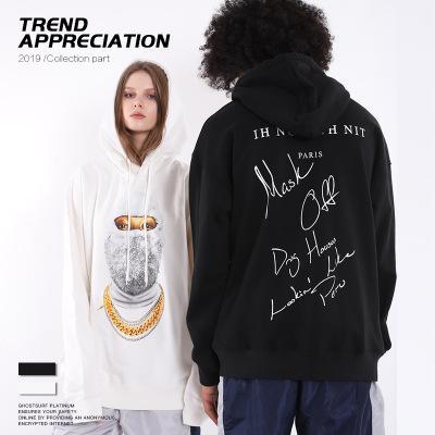 Felpe con cappuccio firmate da uomo Abbigliamento hiphop di lusso Moda Maglione da uomo mascherato alla moda Abiti da uomo larghi alla moda 2019 Nuovi abiti da donna per l'autunno