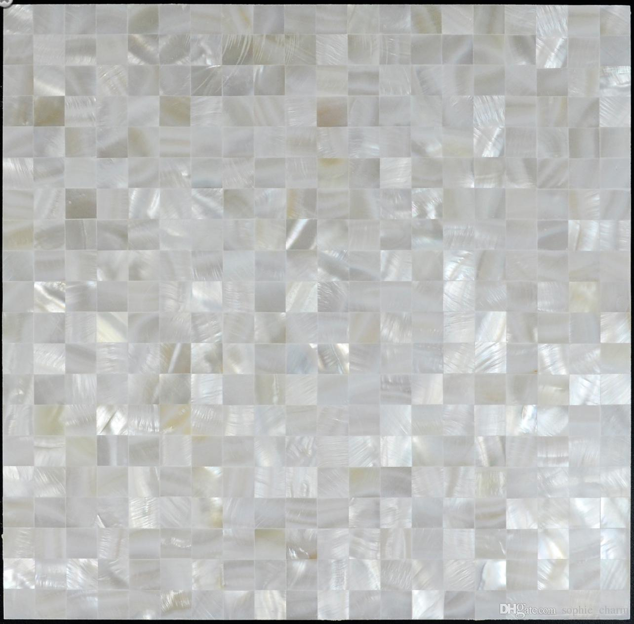 - 2020 8mm Thickness Groutless White Mother Of Pearl Shell Mosaic