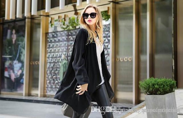 Kadın Hırka Tasarımcı Patchwork Hendek Coats V Yaka Uzun Kollu Dış Giyim Casual yönlü Uzun Düzenli Coats