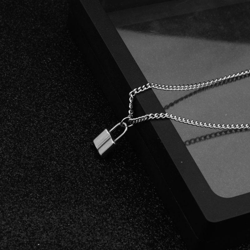 2020 Argent en acier inoxydable Pendentif Collier Neuf femmes collier collier de chaîne par câble
