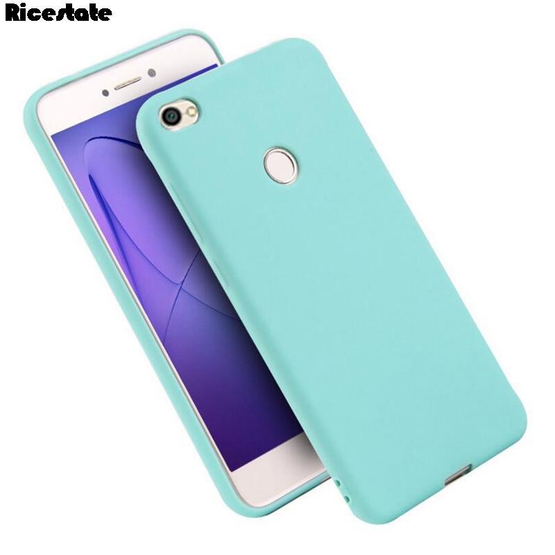 Xiaomi redmi Nota 5A primeiro-3GB / 32GB4GB / 64GB Caso redmi Note5A Nota 5A primeiro-Y1 Telefone Matte Soild cor silicone macio TPU Coque