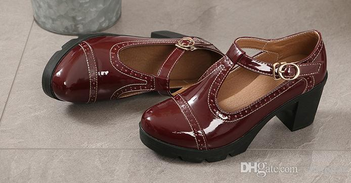 2020 scarpe da donna in primavera e in autunno con il nuovo stile tacco alto grosso tallone tabella impermeabile testa rotonda @ 6130