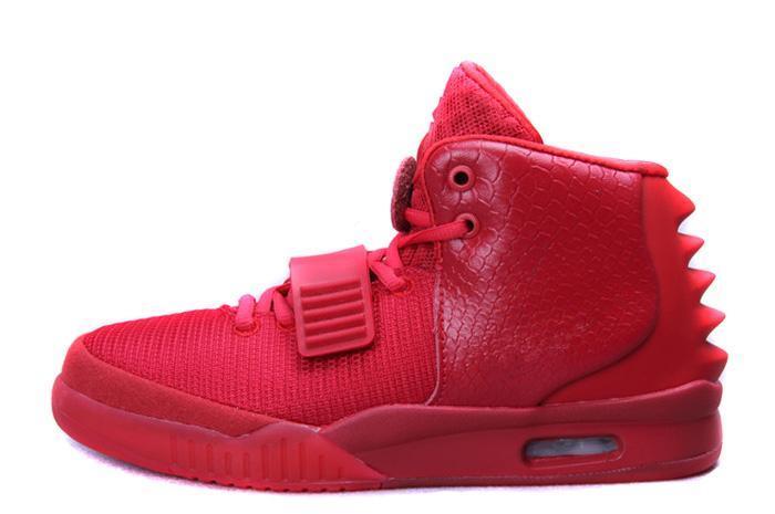 2019 la más nueva venta de zapatos de diseñador Kanye West 2 zapatos de baloncesto para hombre de lujo zapatos deportivos zapatillas de deporte de entrenamiento rojo tamaño 40-46 ssstore