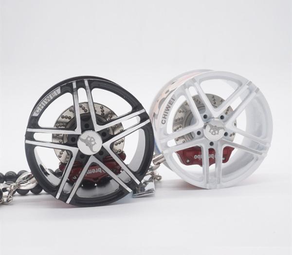 A-Red-Shock Absorber Car Styling Espejo Retrovisor Colgantes Adornos Aleaci/ón De Aluminio Cubo De Rueda Llanta De Goma Llavero Colgante Interior Para Coche Retrovisor