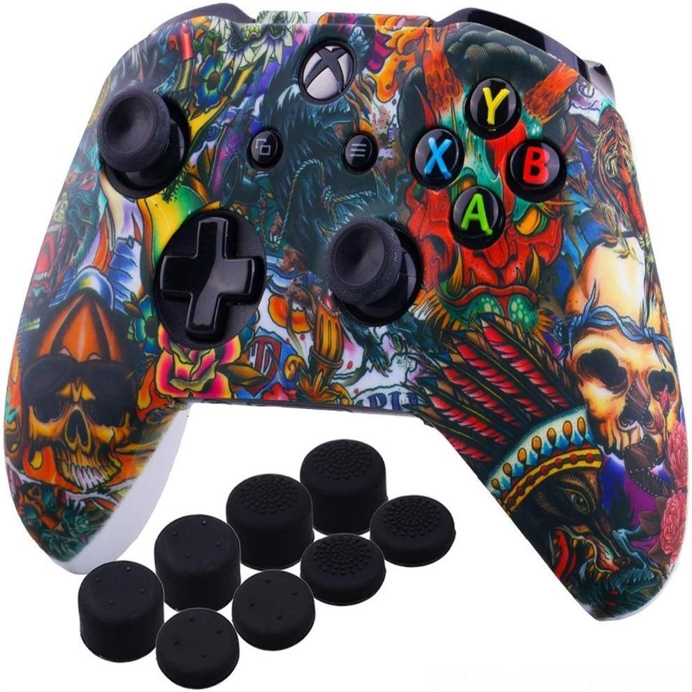 Возьмитесь CoverDHL крышки cmA1l для кожи Мягкий чехол Гибкий Камуфляж Rubber Xone силикона для Xbox One Тонкий контроллер