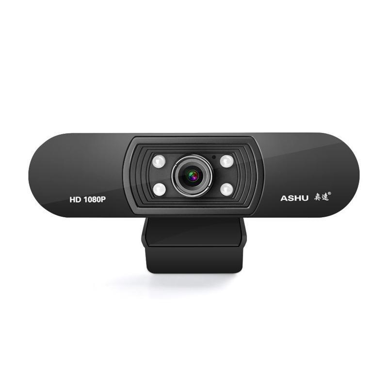 와 아슈 웹캠 1080P의 USB 2.0 웹 디지털 카메라 마이크 클립에 풀 HD 1920 * 2.0 메가 픽셀 CMOS 카메라 웹 캠