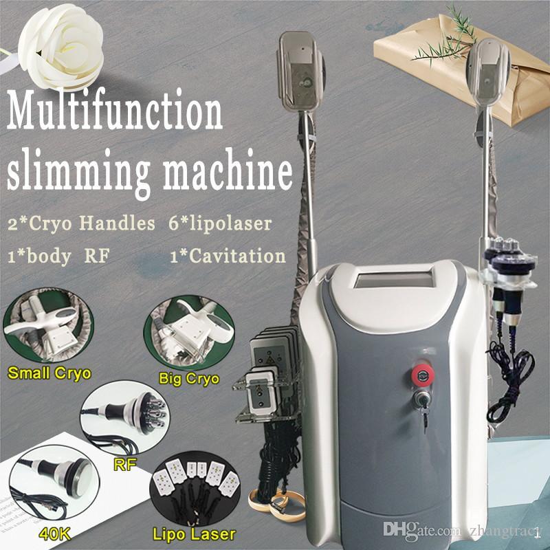 Tech Fat refroidisse gel machine Cavitation RF amincissant Portable Cryolipolysis Perte de poids Lipo Laser cryothérapie machine