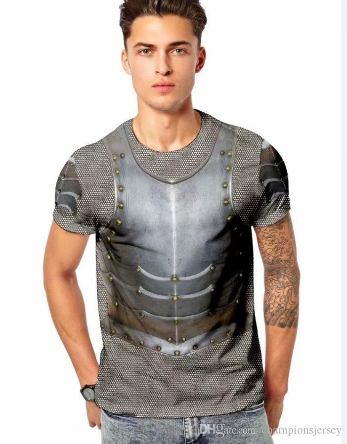 realistic Printing tide locomotive rivets looks handsome hots sales ins Men's cool t-shirts new arrival for summer