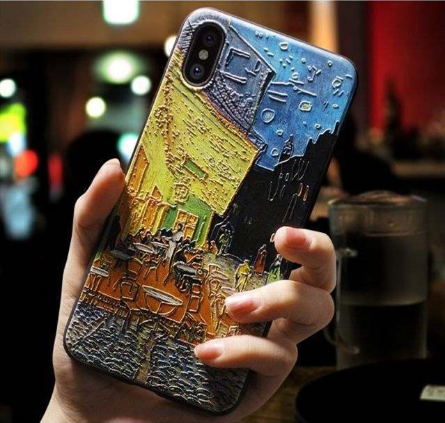 3D Relief Van Gogh Phone Case For IPhone 7 Plus 8 6 6S X Silicone ...
