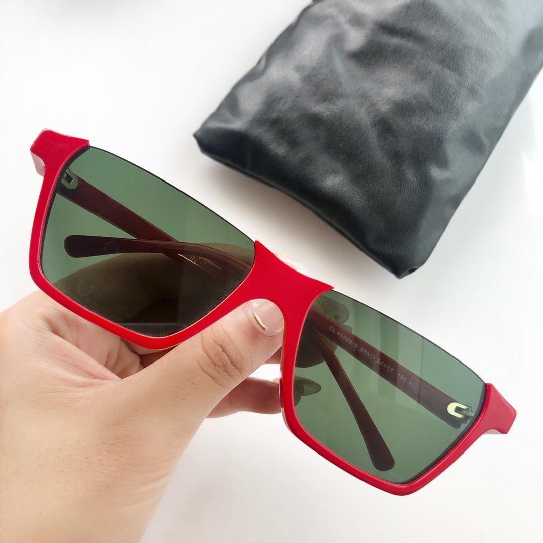 occhiali da sole di moda di lusso 40028 metà cornice quadrata Avant-garde semplice classico stile popolare uv400 protezione occhiali da sole da donna di alta qualità
