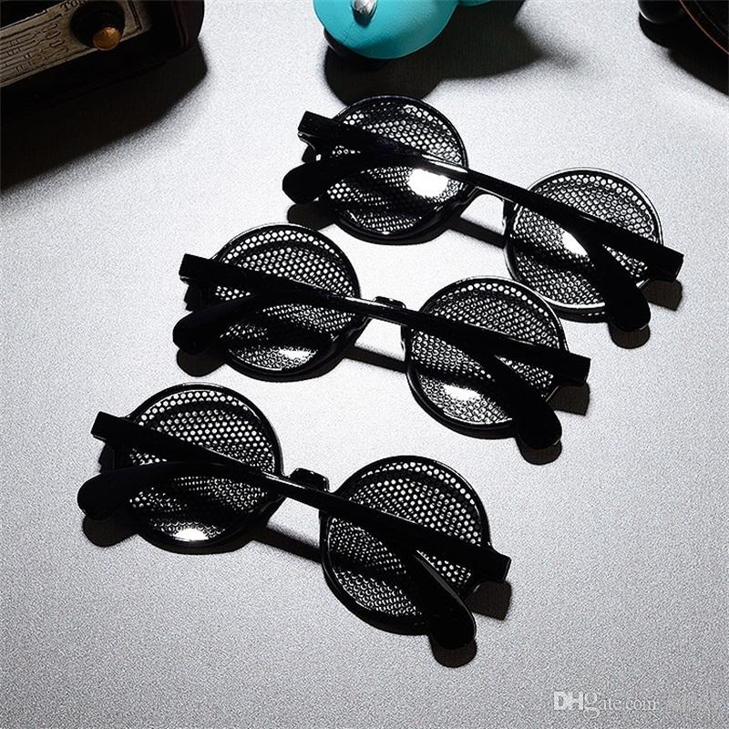 Eye Button Eyewear Porous Cosplay Glasses Men Women Spectacles Black Funny Plastic Resistance To Fall Decorate Prop 4mn C1