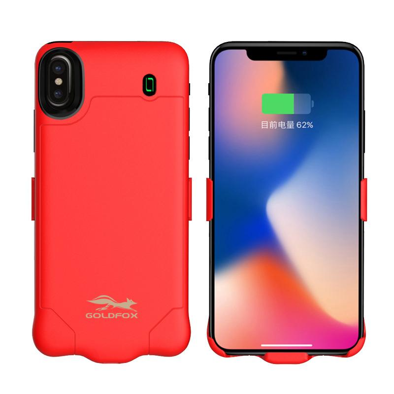 Goldfox For iPhone X Battery Case 4000/6000mah Portable External Power Bank Rechargeable Battery Case For iPhone X Charger Case