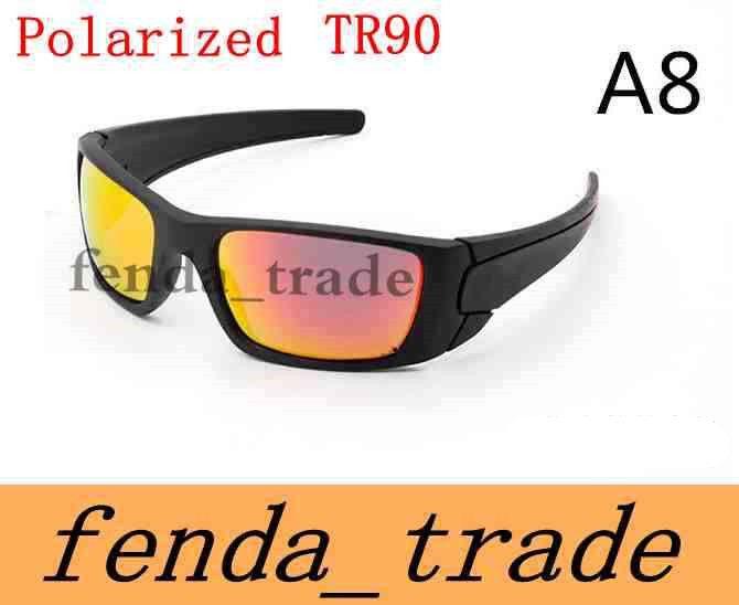 NEW SUMMER brand sunglasses TR90 frame Polarized lens high quality Fashion Sport cycling glasses men women sunglasses color 8 MOQ=10PCS