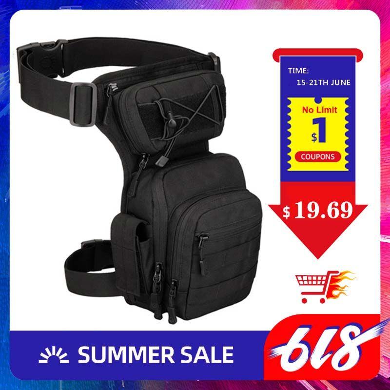 Homens Leg Bolsa Coxa Bag Utility Belt cintura pack Bolsa ajustável Caminhadas Masculino cintura Hip Motos Bags Esporte Outdoor 2020 XA936WA