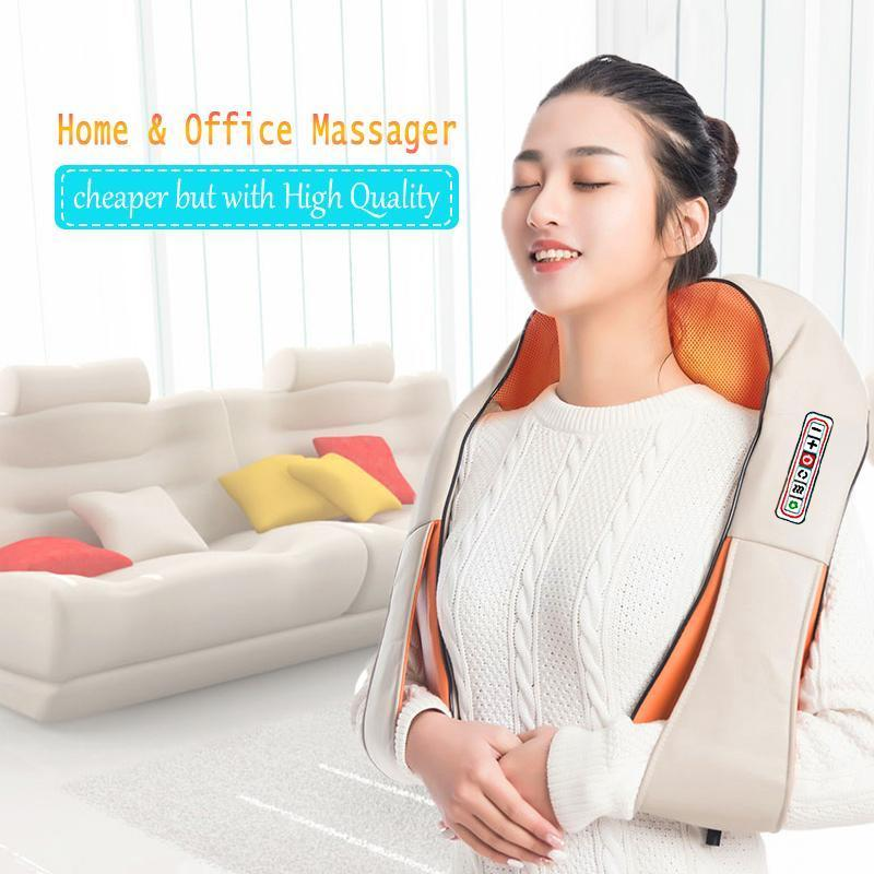 U Forme électrique Retour épaule massage du corps du cou chauffant infrarouge Pétrissage voiture Accueil Massagerr multifonctions Châle
