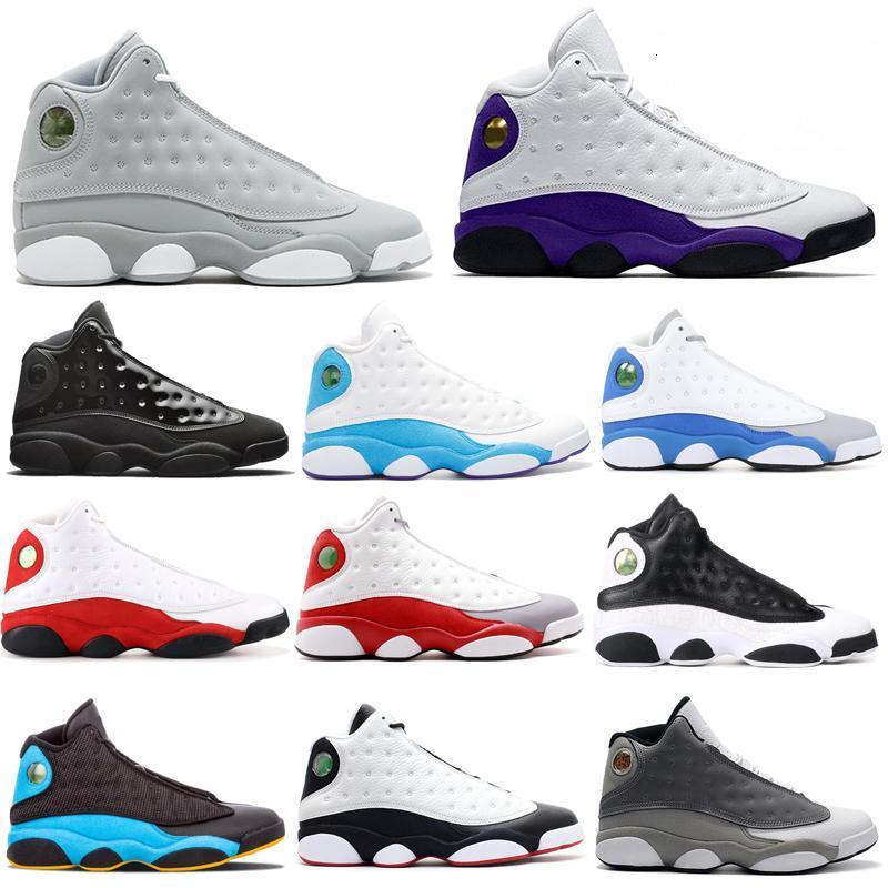 Cap and Gown 13 13s hommes chaussures de basket-ball Atmosphere Gris Black Cat Bred DMP Playoff entraîneurs des hommes de marche baskets sport jogging 7-13