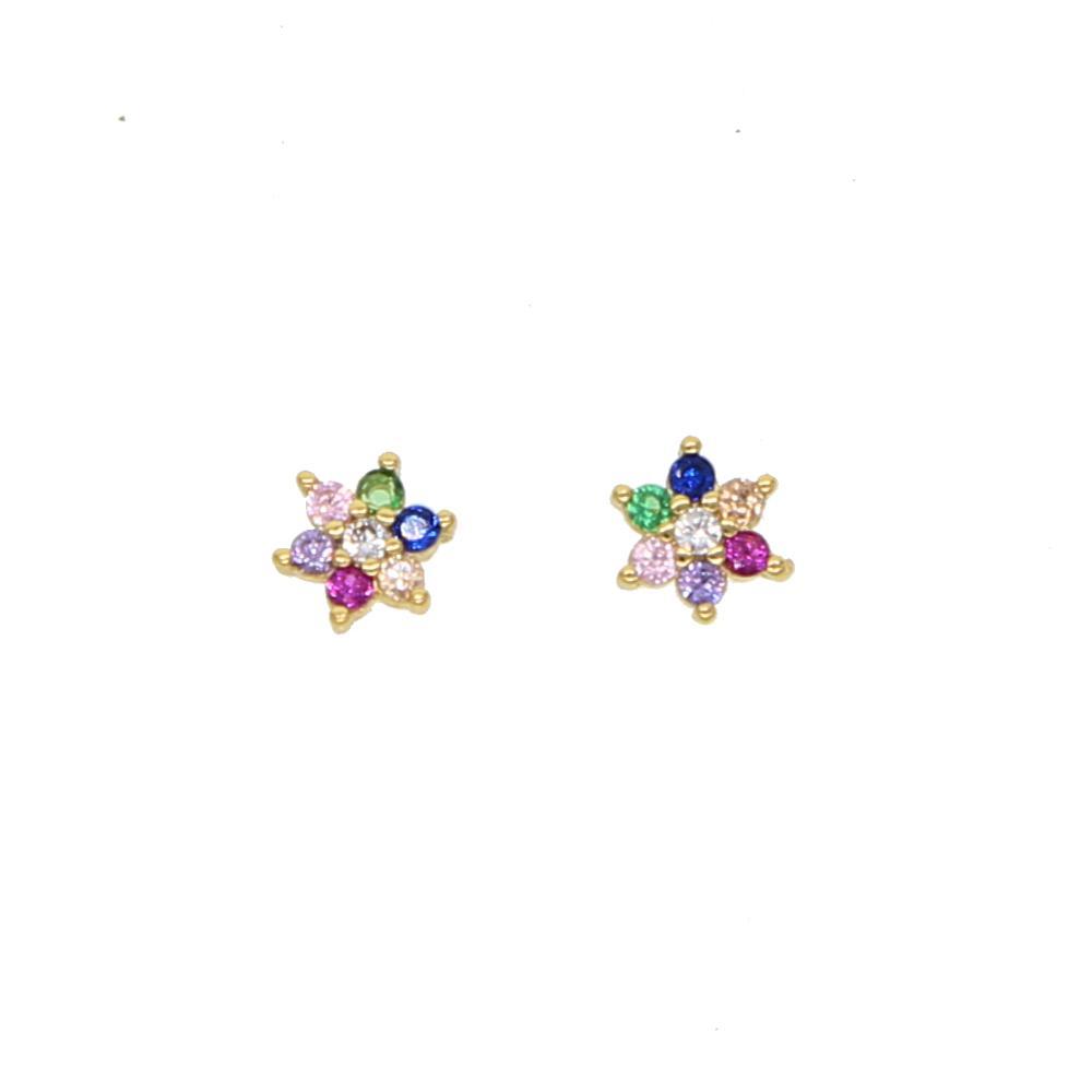 orecchini a bottone color arcobaleno colorati per donna ragazza min 5mm multi piercing borchie orecchino color oro adorabile orecchino adorabile