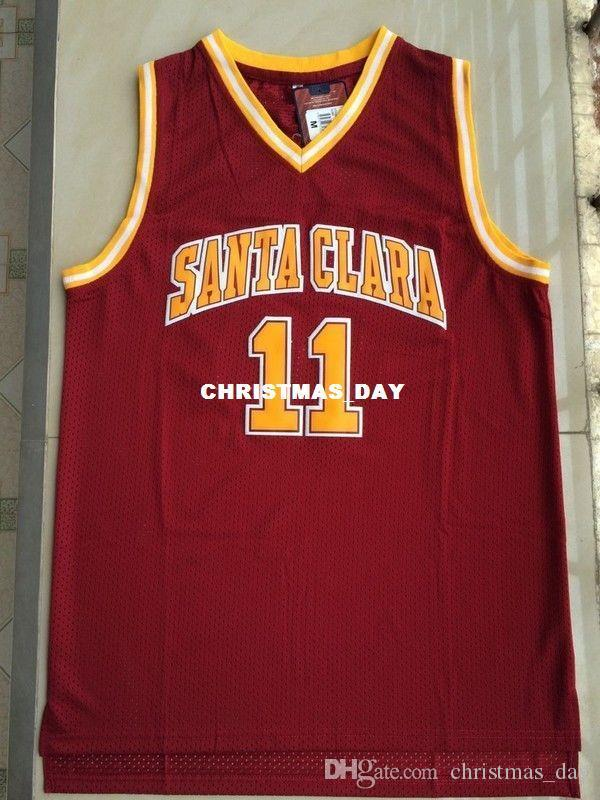 Ucuz özel, Steve Nash # 11 Santa Clara Basketbol swingman Jersey Dikişli özelleştirme herhangi bir sayı adı BAY BAYAN GENÇLİK XS-5XL