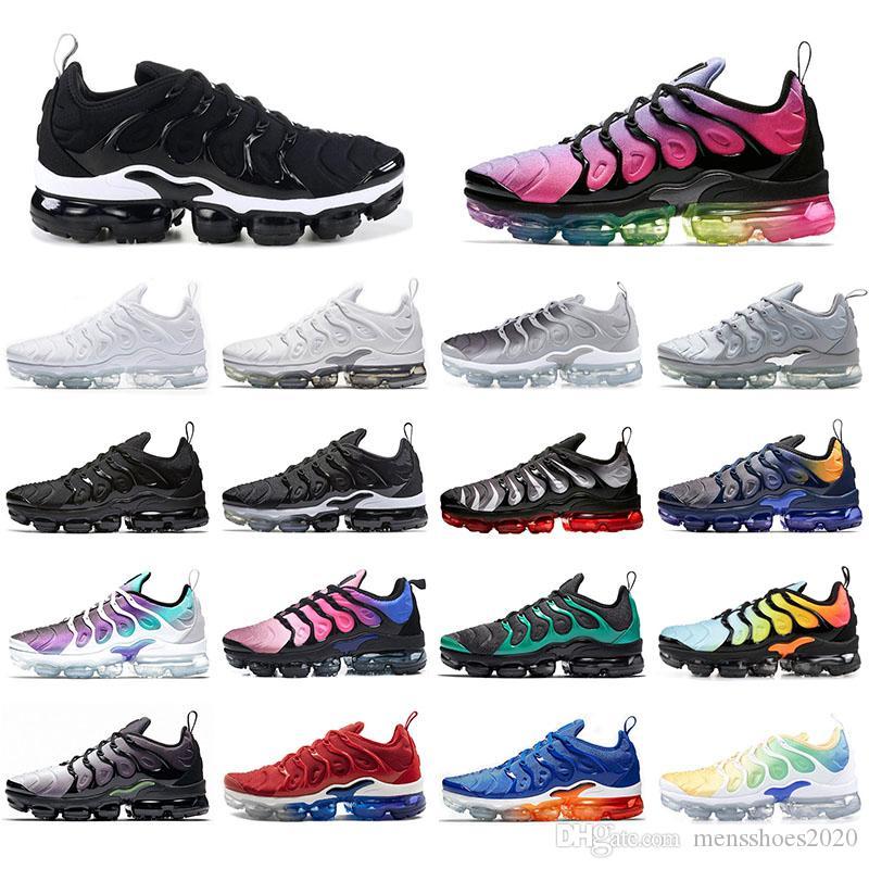 Nike Vapormax plus tn Mit Socken Top-QualitätVapormaxTN Plus-Frauen-Mann-Betrieb Sports Schuhe Triple Black Hyper Violet Regenbogen-Männer Turnschuhe Trainer