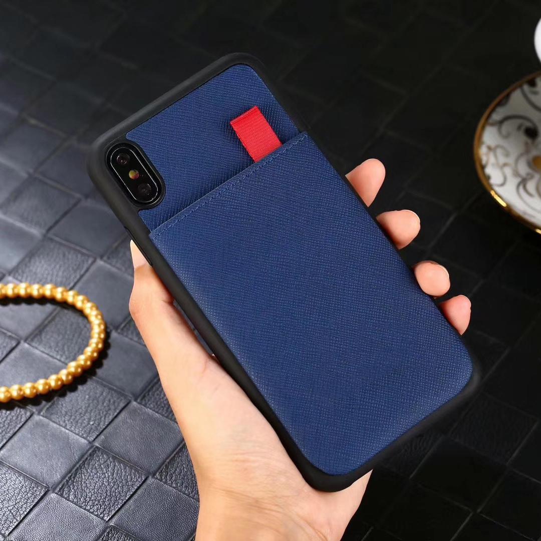 IPhoneX 8 8plus 7 7Plus Taşınabilir Stil Kapak Kart Sahibi Cases ile iPhone 11 11Pro Xs Max Xr X Marka Tasarım Deri Kılıf Telefon Kılıfı