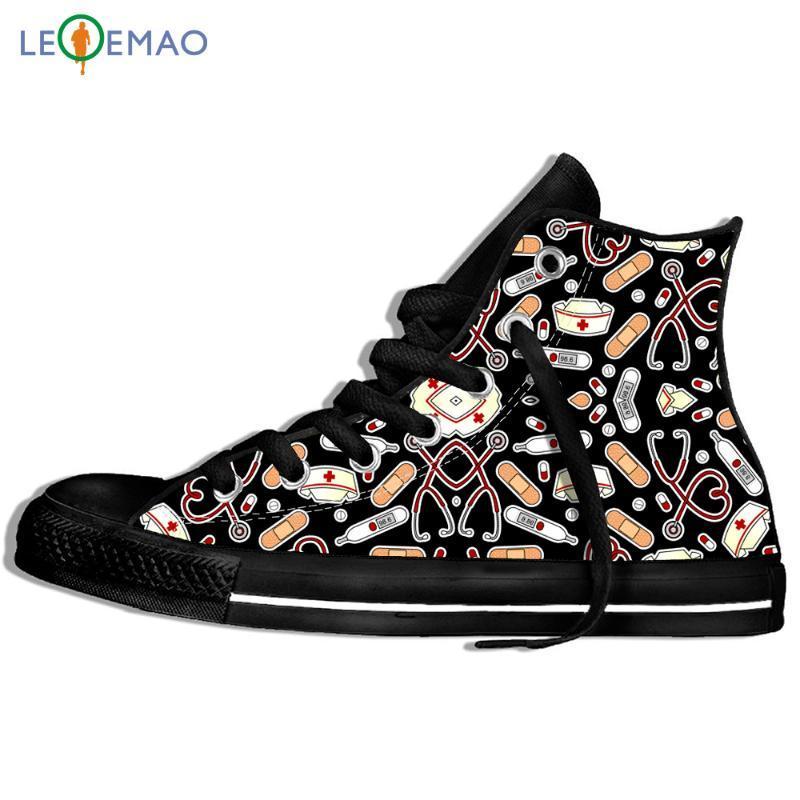 Men's Walking Canvas Boots Shoes Breathable Cartoon Pattern Flat Female Male Men Flats Sport Shoes Classic Sneakers