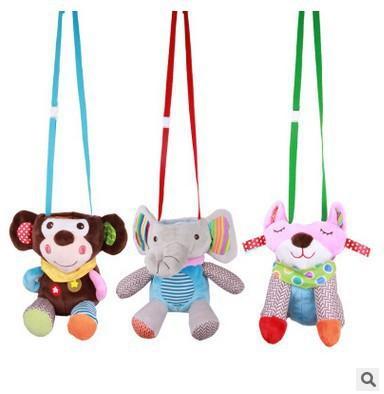 Cute baby plush baby bottle bag can hang trolley cartoon animal insulation anti-scalding bottle bag