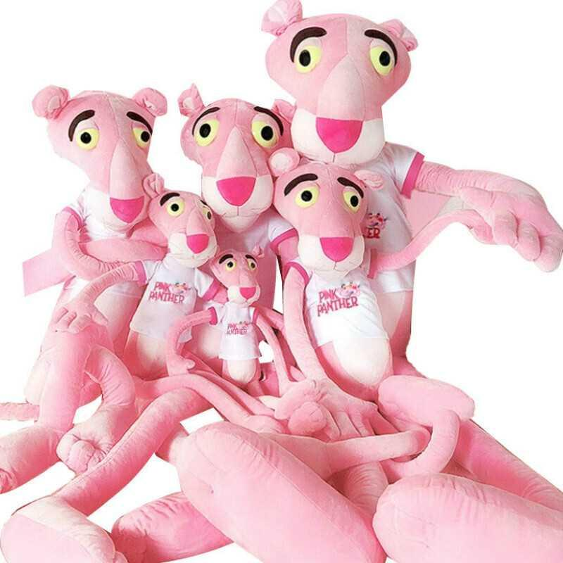 60-80-100-130cm Big Size Baby Toys Plaything Cute Naughty Pink Panther Plush Stuffed Doll Accompany Girls Leisure Toy Home Decor