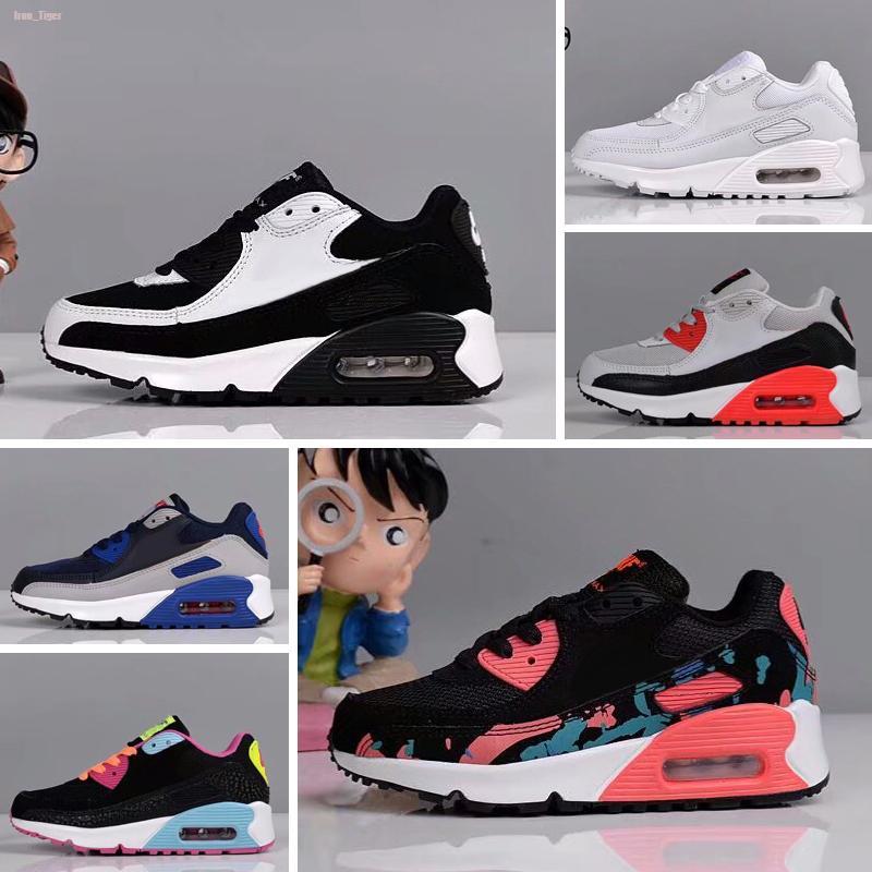 Nike air max 90 más nuevo de zapatos zapatillas de deporte de los niños Presto II Niños Deportes Ortopédica Jóvenes Niños Trainers para bebé muchachos de las niñas zapatos para