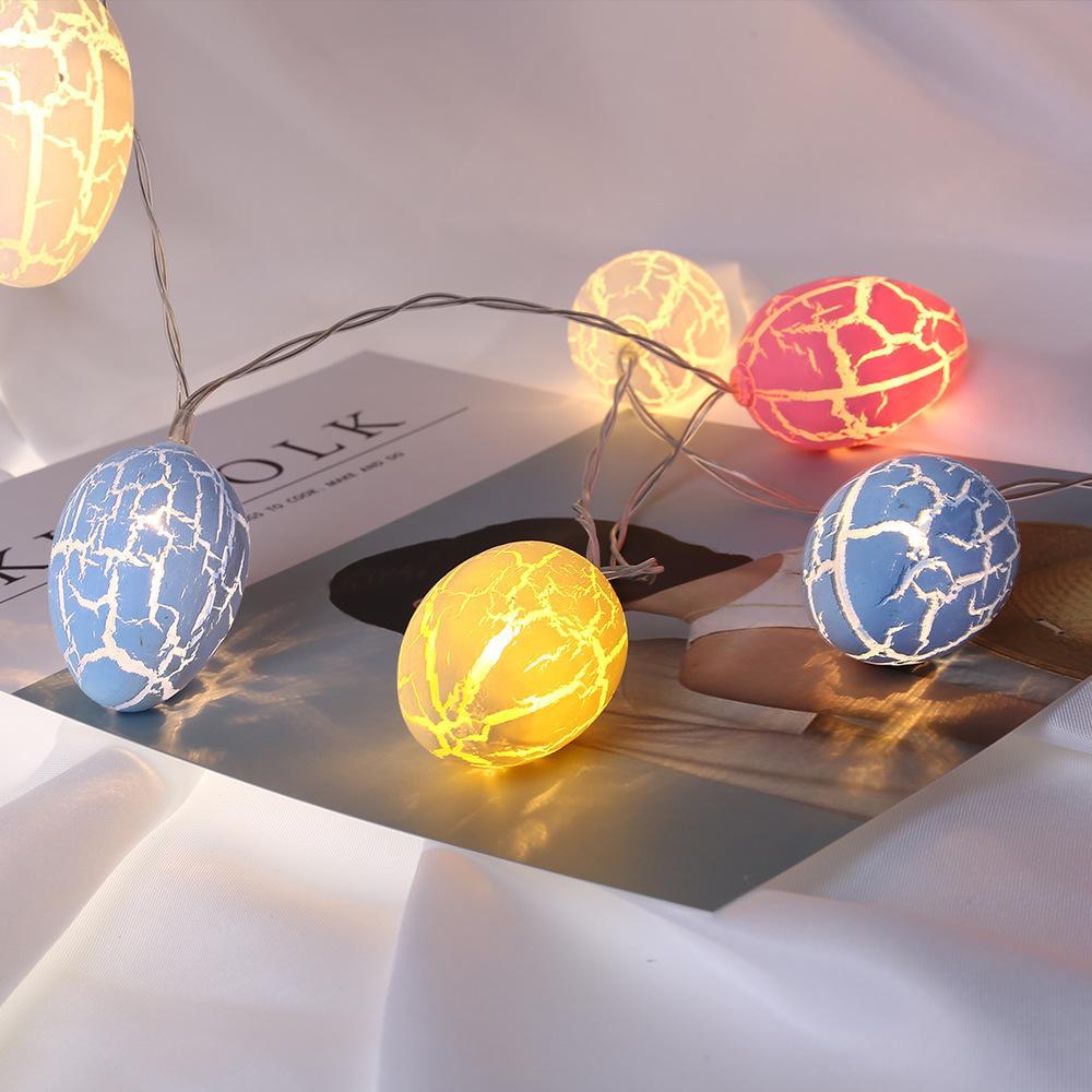 Huevos de Pascua de Cuerda Feria Patio de Luces de Navidad Navidad Decoraciones de Pascua para el hogar 10 Leds luz al aire libre Garland bolas 6 * 4cm cny2101