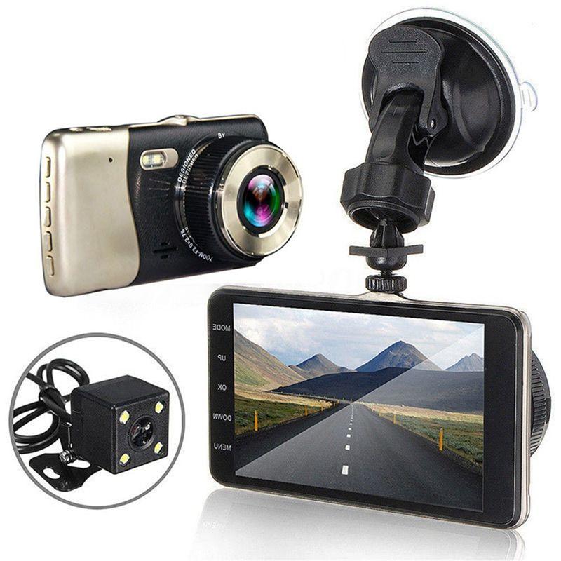 بيع 4 بوصة viceo مسجل سيارة dvr كاميرا كاملة HD 1080P مركبة السفر تاريخ 150 درجة عدسة الليل الرؤية تاكوغراف