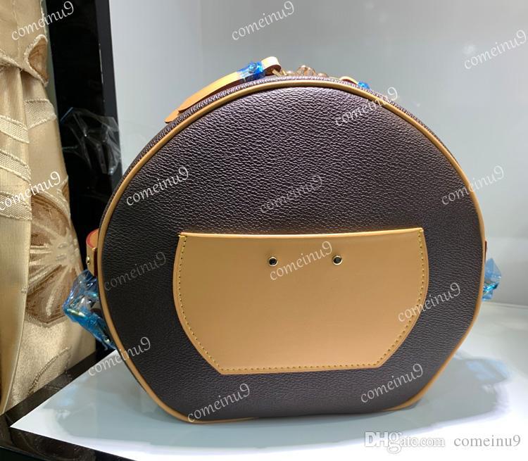 Ремешок Crossbody Подлинная сумка коробка вокруг кожи петь тега оптом плавное ведро сумка женское женское холст сумка Hnadle 43514 BNBFU