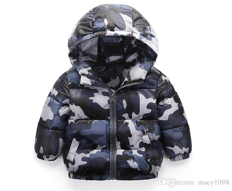 baby boys coats hoody long sleeve camouflage kids jacket winter/autumn thicken outfit cool outwear children hoodies zip top quality dropship