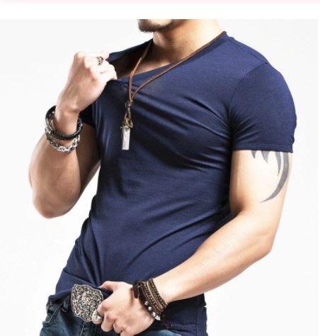2019 mrmt marchio di abbigliamento 4 colori scollo a V maglietta degli uomini di modo degli uomini magliette fitness casuale: Uomo maglietta M-5XL spedizione gratuita