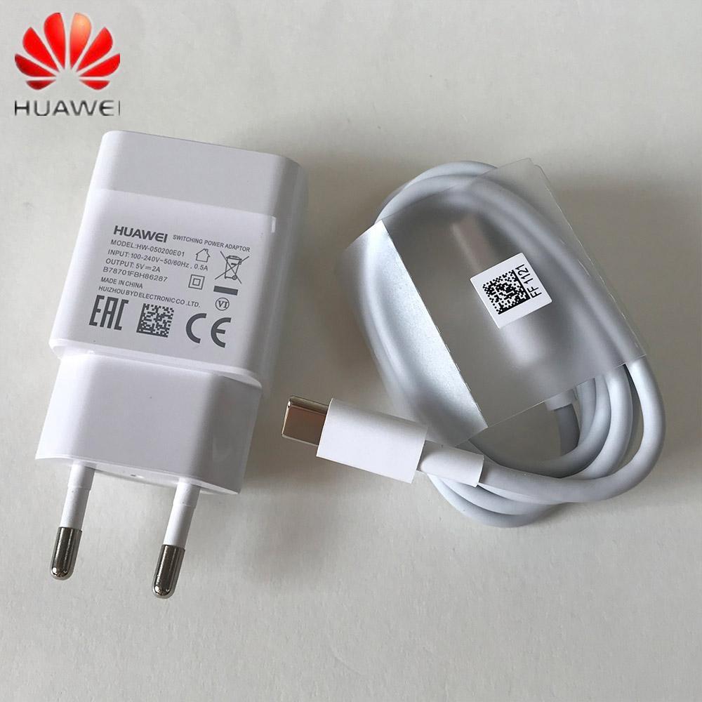 Para el enchufe USB 3.1 Tipo-C adaptador de carga del cable del cargador de 5V 2A Huawei UE Estados Unidos para el P20 P10 P9 Lite Nova 3 4 teléfonos inteligentes