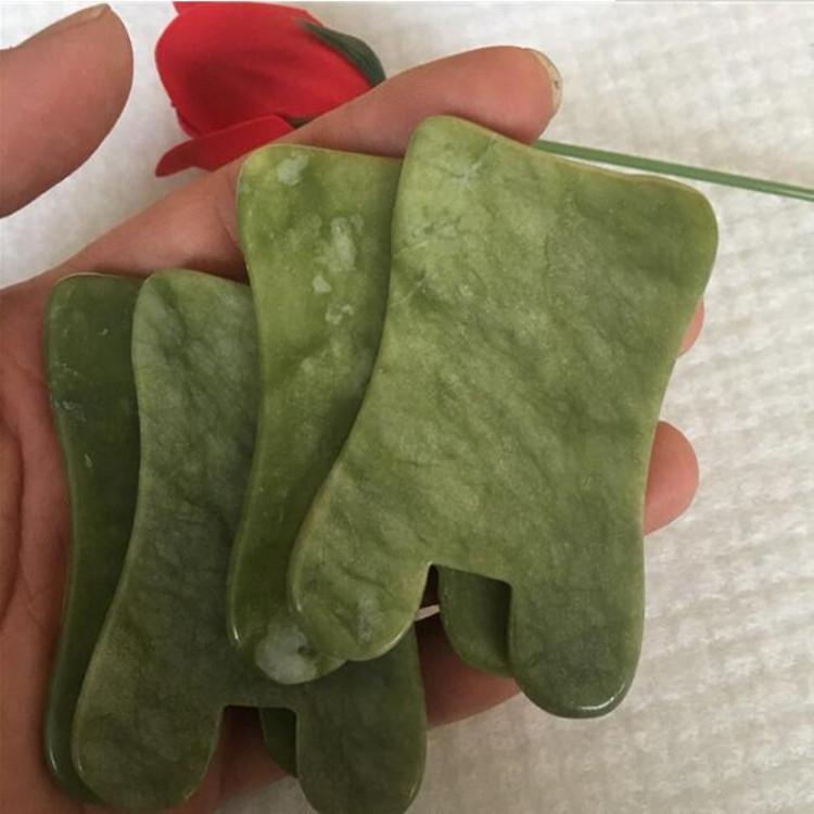 2019 venta caliente natural Jade masaje de la herramienta de Guasha Junta Gua Sha herramienta sana facial Tratamiento natural de piedra de jade raspado Cuidado