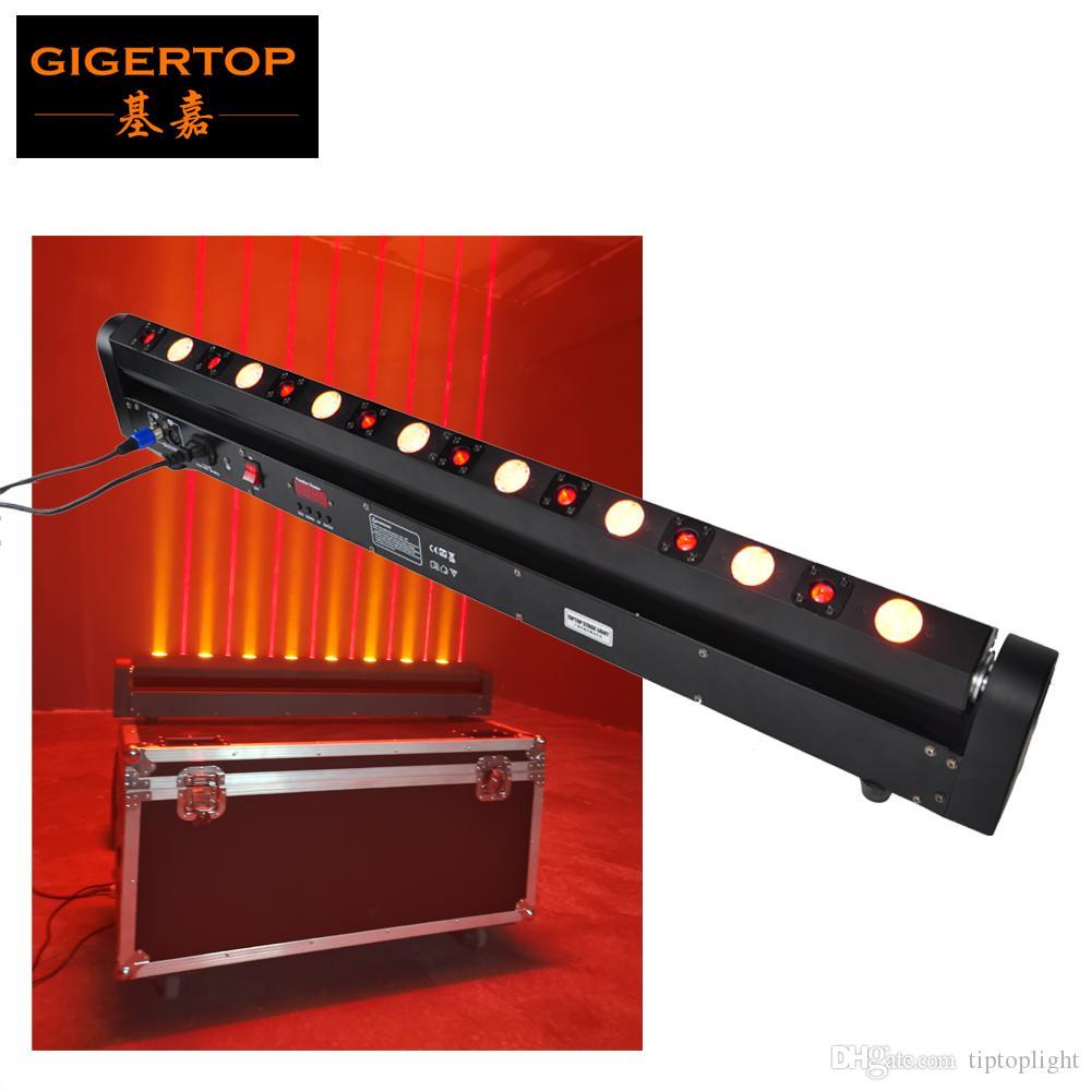 Gigertop جديد الجوزاء شعاع الليزر أدى الجدار غسالة الضوء 8 × الأحمر ليزر 500MW مع 8 × اللون الذهبي 3W كري العنبر الأصفر 2IN1 تأثير