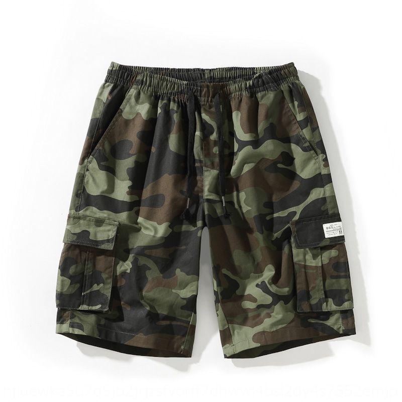Pamuk kamuflaj Plaj pantolon gençlik şişman erkek tulum düz plaj pantolonları Ff6se erkekler çok cepli ekstra yağ şort tulumlar