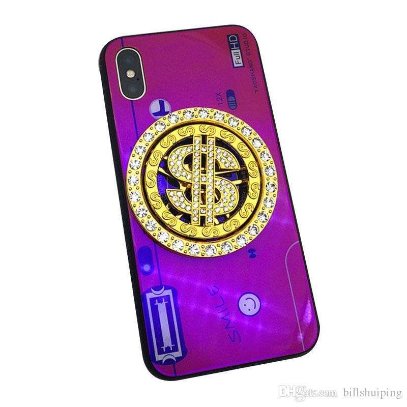 Горячие продажи новый хип-хоп вставить дрель вращающийся 6.2 см доллар США кулон для мобильных телефонов оболочки ручной DIY ювелирные аксессуары